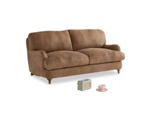 Small Jonesy Sofa in Walnut beaten leather