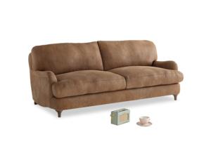 Medium Jonesy Sofa in Walnut beaten leather