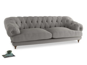 Extra large Bagsie Sofa in Wolf brushed cotton