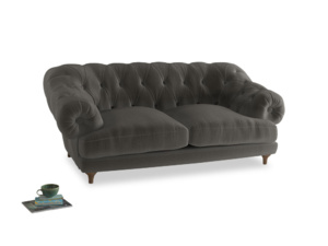 Medium Bagsie Sofa in Slate clever velvet