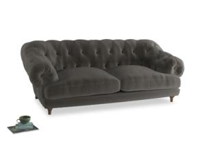 Large Bagsie Sofa in Slate clever velvet