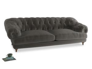 Extra large Bagsie Sofa in Slate clever velvet