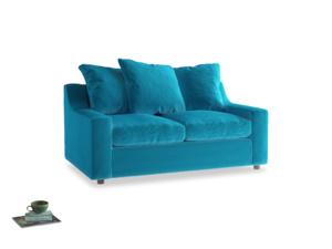 Small Cloud Sofa in Azure plush velvet