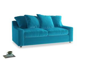 Medium Cloud Sofa in Azure plush velvet