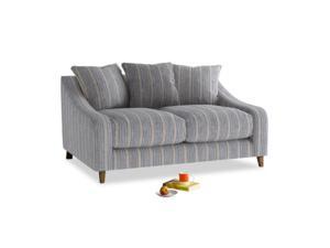 Small Oscar Sofa in Brittany Blue french stripe