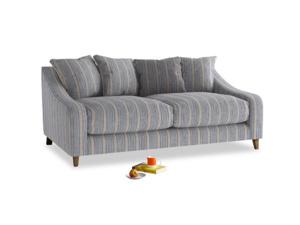 Medium Oscar Sofa in Brittany Blue french stripe