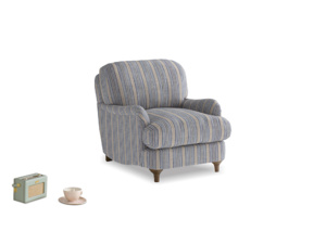 Jonesy Armchair in Brittany Blue french stripe