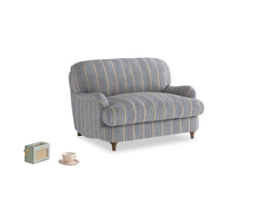 Jonesy Love seat in Brittany Blue french stripe