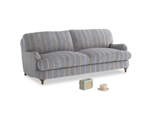 Medium Jonesy Sofa in Brittany Blue french stripe