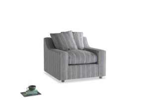 Cloud Armchair in Brittany Blue french stripe