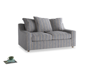 Small Cloud Sofa in Brittany Blue french stripe