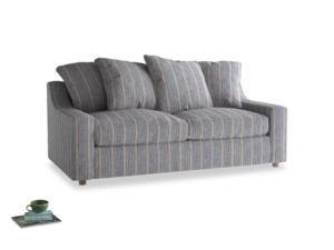 Medium Cloud Sofa in Brittany Blue french stripe