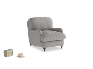 Jonesy Armchair in Wolf brushed cotton