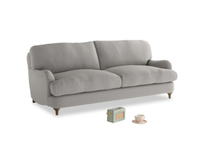 Medium Jonesy Sofa in Wolf brushed cotton