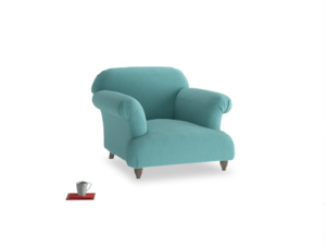 Soufflé Armchair in Peacock brushed cotton