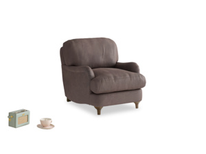 Jonesy Armchair in Dark Chocolate beaten leather