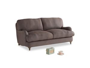 Small Jonesy Sofa in Dark Chocolate beaten leather