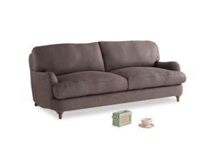 Medium Jonesy Sofa in Dark Chocolate beaten leather