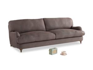 Large Jonesy Sofa in Dark Chocolate beaten leather