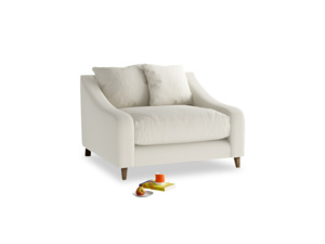 Oscar Love seat in Oat brushed cotton