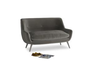 Small Berlin Sofa in Slate clever velvet