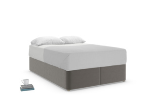 Double Store Storage Bed in Slate clever velvet