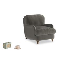 Jonesy Armchair in Slate clever velvet