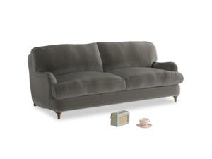 Medium Jonesy Sofa in Slate clever velvet