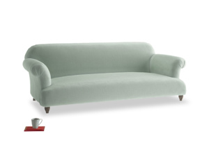 Large Soufflé Sofa in Mint clever velvet
