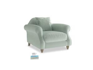 Sloucher Armchair in Mint clever velvet