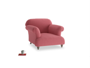 Soufflé Armchair in Raspberry brushed cotton