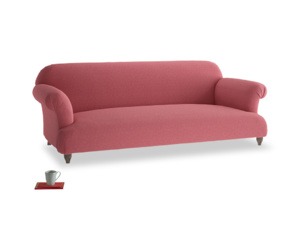 Large Soufflé Sofa in Raspberry brushed cotton