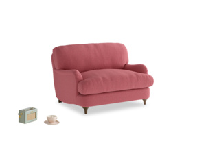 Jonesy Love seat in Raspberry brushed cotton