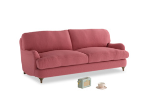 Medium Jonesy Sofa in Raspberry brushed cotton