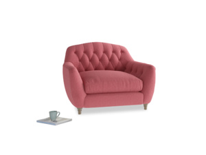 Love Seat Butterbump Love Seat in Raspberry brushed cotton