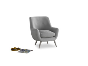 Berlin Armchair in Magnesium washed cotton linen