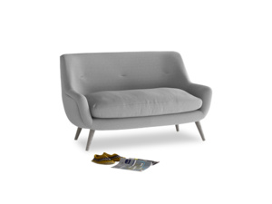 Small Berlin Sofa in Magnesium washed cotton linen