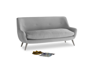 Medium Berlin Sofa in Magnesium washed cotton linen