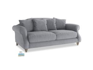 Medium Sloucher Sofa in Dove grey wool