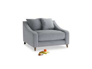 Oscar Love seat in Dove grey wool