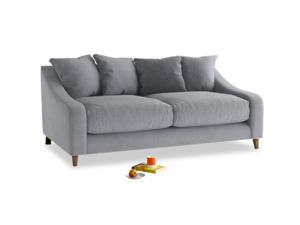 Medium Oscar Sofa in Dove grey wool