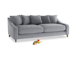 Large Oscar Sofa in Dove grey wool