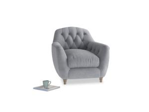 Butterbump Armchair in Dove grey wool