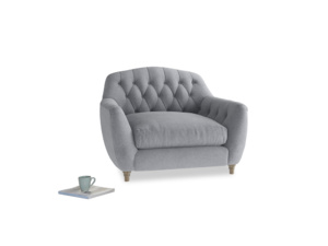Love Seat Butterbump Love Seat in Dove grey wool