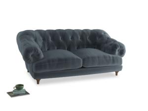 Medium Bagsie Sofa in Mermaid plush velvet