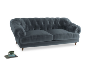 Large Bagsie Sofa in Mermaid plush velvet