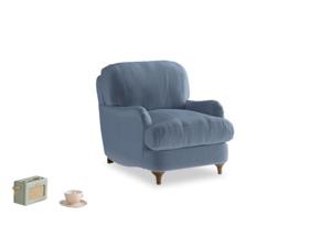 Jonesy Armchair in Winter Sky clever velvet