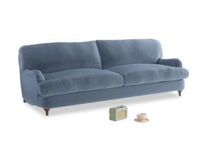 Large Jonesy Sofa in Winter Sky clever velvet