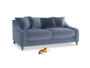 Medium Oscar Sofa in Winter Sky clever velvet