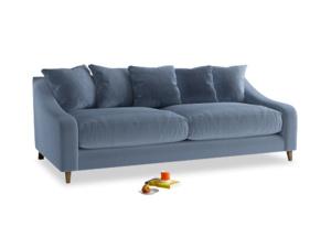 Large Oscar Sofa in Winter Sky clever velvet